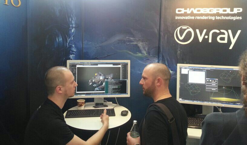 Chaos Group booth at FMX