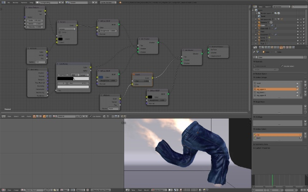 Blue jeans texture in Blender