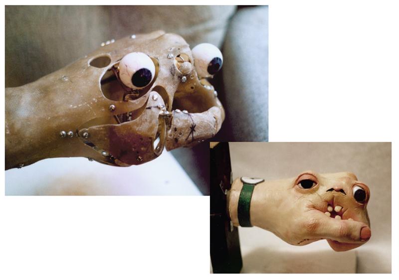 Animatronic hand creature