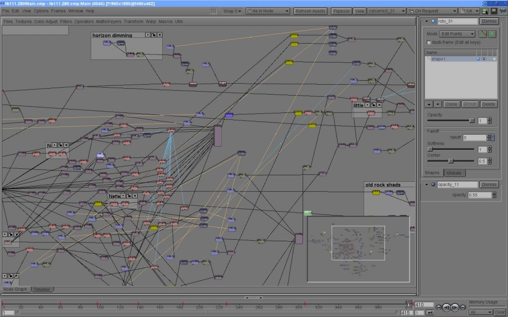 Screenshot of Icy, R&H's compositing program