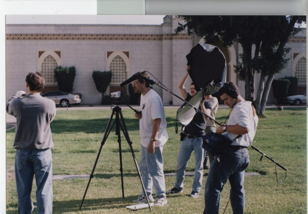 On the set of one of my short films - 2006