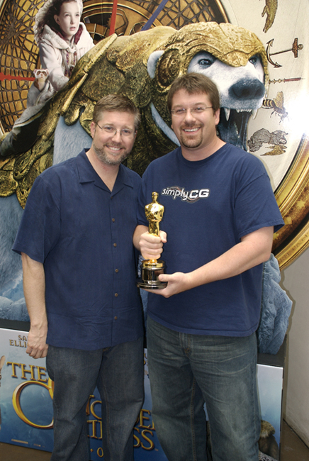 "With Bill Westenhofer & the visual effects Oscar for ""The Golden Compass"""