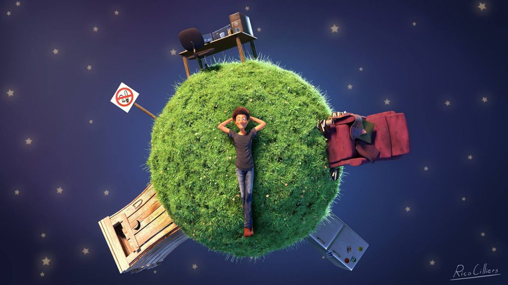 """Model, shade & render a tiny planet"" by Rico Cilliers"