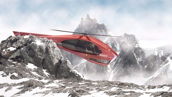 Airbus Helicopter 3D render