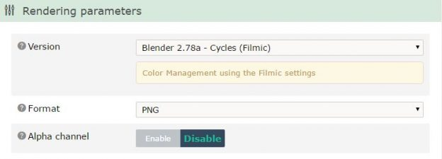 The Filmic OpenColorIO configuration for Blender is supported on RenderStreet